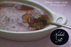 "Kombucha ""Jello"" is a very refreshing and gut-friendly dessert or snack! #healthyrecipes #gelatin #kombucha"