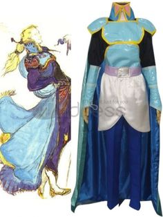 Finial Fantasy VI Edgar Roni Figaro Cosplay Costume