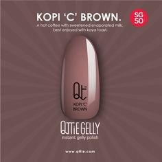 Special SG50 Limited Edition QTTiE GELLY now available on our Online Shop! Look forward to uniquely Singaporean names, such as Samsui Woman, Merlion White, Bandung Pink, Kopi 'C', chilli crab & more!  Shop at - http://www.qttie.com/#!shop/c15ic