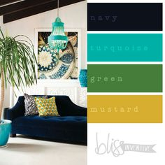 bliss-inventive-palette-turquoise-interior | Fascinator colour combo ideas