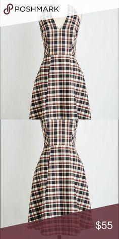 Modcloth Scholastic Classic in Mini Plaid Dress NWT - Medium - by Coconinno ModCloth Dresses Midi