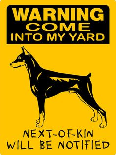 Doberman Pinscher Dog Sign 9x12 ALUMINUM 3357 by animalzrule, $12.00