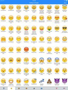 Iphone Ios 9 Emojis : iphone, emojis, Iphone, Emoji, Meanings, Ideas, Emoji,, Emojis, Meanings,, Chart