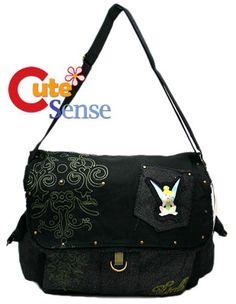Tinkerbell Denim Messenger Bag