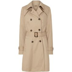 Sugarhill Boutique Murren Trenchcoat (€105) ❤ liked on Polyvore featuring outerwear, coats, tan, women, beige trench coat, tan trench coat, trench coat, tan coat and beige coat