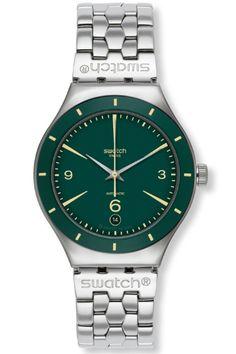 Swatch Gents Irony Green Sky Automatic Watch YAS410G