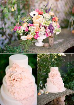 Peony cake - in orange or yellow Wedding Beauty, Dream Wedding, Wedding Day, Wedding Desserts, Wedding Cakes, Wedding Colors, Wedding Flowers, Peony Cake, Colorful Cakes