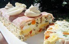 La meilleure recette de Terrine de jambon à la macédoine aux oeufs! L'essayer, c'est l'adopter! 4.5/5 (6 votes), 6 Commentaires. Ingrédients: 1 petite boîte de macédoine de légumes en conserve (400 g) 4 oeufs entiers + 2 oeufs dur 1 petite boîte de crème liquide 100 g de gruyère râpé allègé 4 tranches de jambon blanc