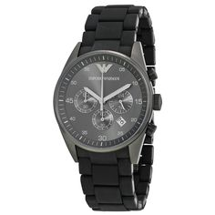d2015bb8f82 Emporio Armani AR5889 Black Sportivo Mens Watch