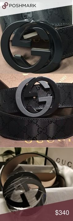 615f106c4bd5 Gucci belt leather Black/ buckle black Authentic gucci belt leather double  GC Size pant size New in box, every accesories Accessories Belts