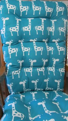 Glider or Rocking Chair Cushions Set in Turquoise Teal and White Giraffe  Gisella  Baby Nursery Rockers  Dutailier CushionGlilder or Rocking Chair Cushions Set in Grey Pink and White  . Rocking Chair Cushion Sets For Nursery. Home Design Ideas