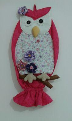 Puxa saco de coruja rosa