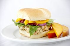 Caribbean Mango Chicken is fun food that is a snap to make! Use whole wheat bun. #healthyideas #cleaneating #recipes