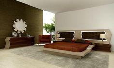 15 Dazzling Modern Bedroom Furniture Set to Blow you Away Modern Bedroom Furniture Sets, Tv Furniture, Futuristic Bed, Modern Luxury, Subwoofer Box, Design, Bed Room, Side Tables, Home Decor