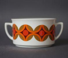 Vintage German Porcelain Soup Bowl. €9.00, via Etsy.