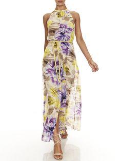 Fl Print Maxi Evening Dresses Formal Tail Bridemaid And