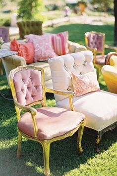Alice In Wonderland themed wedding ideas. Ceremony seating. #wedding…