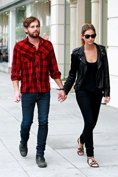 Caleb Followill, Lead Singer of Kings of Leon, with Victoria Secret Model wife Lily Aldridge