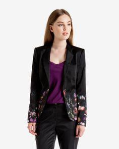 Shadow Floral printed jacket
