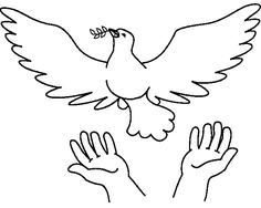 Peace and Love Coloring Pages Dove Symbolism, Animal Symbolism, Mom Tattoo Designs, Peace Poster, Bird Template, Love Coloring Pages, Peace Dove, Embroidery Patterns Free, Bible Crafts