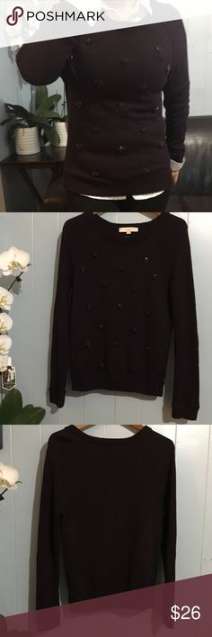Ann Taylor Sweater Beautiful Embellished Jeweled Sweater. In excellent condition. Ann Taylor Sweaters