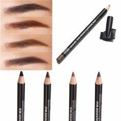 4 Colors Waterproof Eyebrow Pencil Pen Brush Makeup Cosmetic Beauty Tools