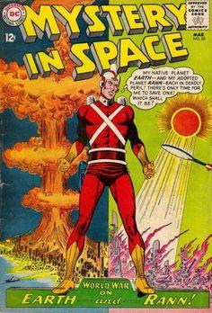 Carmine Infantino.  Mystery in Space, Adam Strange.