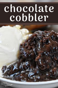 Chocolate Cobbler - - This quick dessert has a warm, fudgy pudding covered with a moist chocolate cake. It's like a chocolate lava cake, but wayyyy easier and just as del. Chocolate Cobbler, Chocolate Lava Cake, Chocolate Recipes, Delicious Chocolate, Easy Chocolate Desserts, Chocolate Trifle, Chocolate Chips, White Chocolate, Pastries