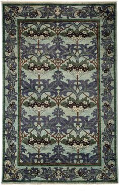 Darya Rugs Arts and Crafts Eusebia Rug. 5'x8' $2K. Handknotted. Rugs USA.