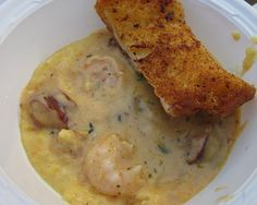 Shrimp and Grits: You can have a taste of the sea and the South no matter where you decide to camp. #dinner #camping #recipe