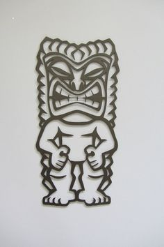 Summer is almost here and it is time to take a look at the patio! The Trival Tiki Man Wall Sculpture is the answer. It is cut with a CNC Plasma Torch from 16 gauge cold rolled steel. It is approximate