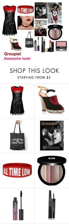 """""""For Scarlett (friend) - Scarlett's ideal wardrobe by me: Groupie!"""" by sarah-m-smith ❤ liked on Polyvore featuring Magda Butrym, Charlotte Olympia, Edward Bess, Charlotte Russe, Dolce&Gabbana and Guerlain"""