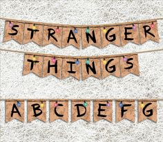 This Stranger Things printable banner is the perfect decor for a themed party. Stranger Things Theme, Stranger Things Netflix, Birthday Party Decorations, Party Themes, Birthday Parties, Birthday Ideas, Party Ideas, Printable Banner, Party Printables