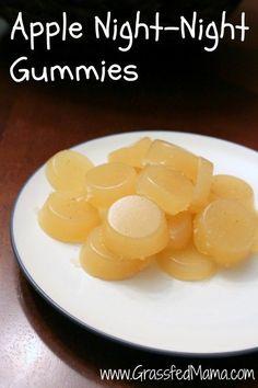 Night-Night Apple Gummies, natural gummy recipe, magnesium for kids,