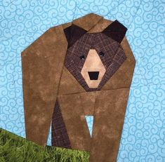 Bear Paper Pieced Block Pattern | Craftsy