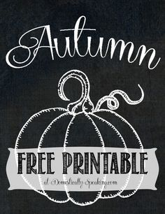 Today I'm sharing 2 free printables with my autumn pumpkins. One has the trendy chalkboard background and white is colorless so you can pick. Pumpkin Printable, Printable Art, Free Printables, Chalkboard Printable, Fall Chalkboard, Chalkboard Designs, Chalkboard Ideas, Chalkboard Sayings, Halloween Chalkboard