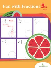 Fractions are a fundamental math skill for 5th graders to master! In this series your child will review adding mixed fractions, and converting improper fractions to mixed ones.