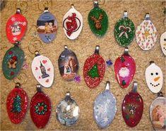 Resin Spoon Christmas Ornaments