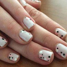 Uñas con lunares: Tendencia de manicura para el verano 2016 - Manicura blanca