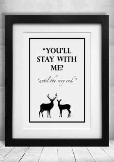 Harry Potter Quote Print Until the Very End by LunasLoft91