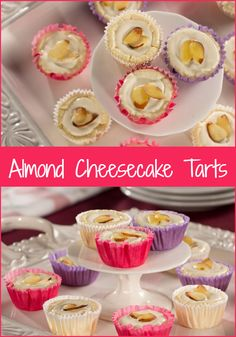 These low-carb Almond Cheesecake Tarts are so decadent, a smaller bite doesn't mean they're small on taste!
