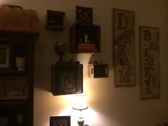Nailed it! Basket Shelves, Candle Sconces, Wall Lights, Candles, Lighting, Home Decor, Appliques, Decoration Home, Light Fixtures