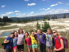 Alpengirls in Yellowstone National Park, girls and nature, a great combo! www.alpengirlcamp.com