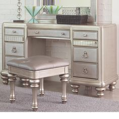 House of Hampton Skaggs Vanity with Mirror | Wayfair ...