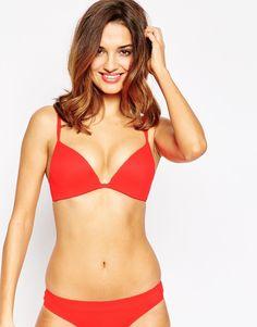 Shop Calvin Klein Perfectly Fit Push Positive Bra at ASOS. Nylons, Calvin Klein, Asos, Push Up, Bikinis, Swimwear, Fashion Online, Positivity, Fitness