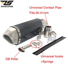 Cheap escape moto, Buy Quality exhaust akrapovic directly from China universal motorcycle exhaust Suppliers: ZS Racing Universal Motorcycle Exhaust Akrapovic Escape Moto Muffler Pipe With Removable DB Killer YZF Chinese Scooters, Motorcycle Exhaust, Mini Bike, Cbr, Motorcycle Accessories, Exhausted, Automobile, Racing, Pipes