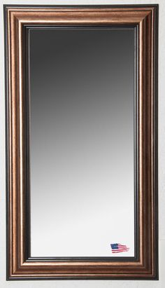 "Canyon Bronze Tall Mirror - 31"" x 66"" - Free Shipping, No Tax - Fine Quality Mirrors Made in USA - Rectangular, Bronze Black Mirror."