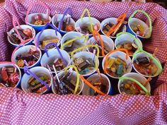 The easiest May Day Basket/ plastic cups and pipe cleaners!!!