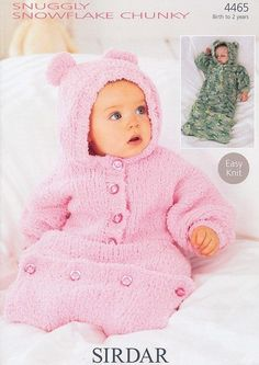 1 of 1: Sirdar Easy Knit Baby Knitting Pattern All In One 4465 Snuggly Snowflake Chunky