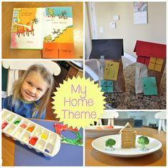 'My Home' Theme : Preschool and Toddler All About Me Activities